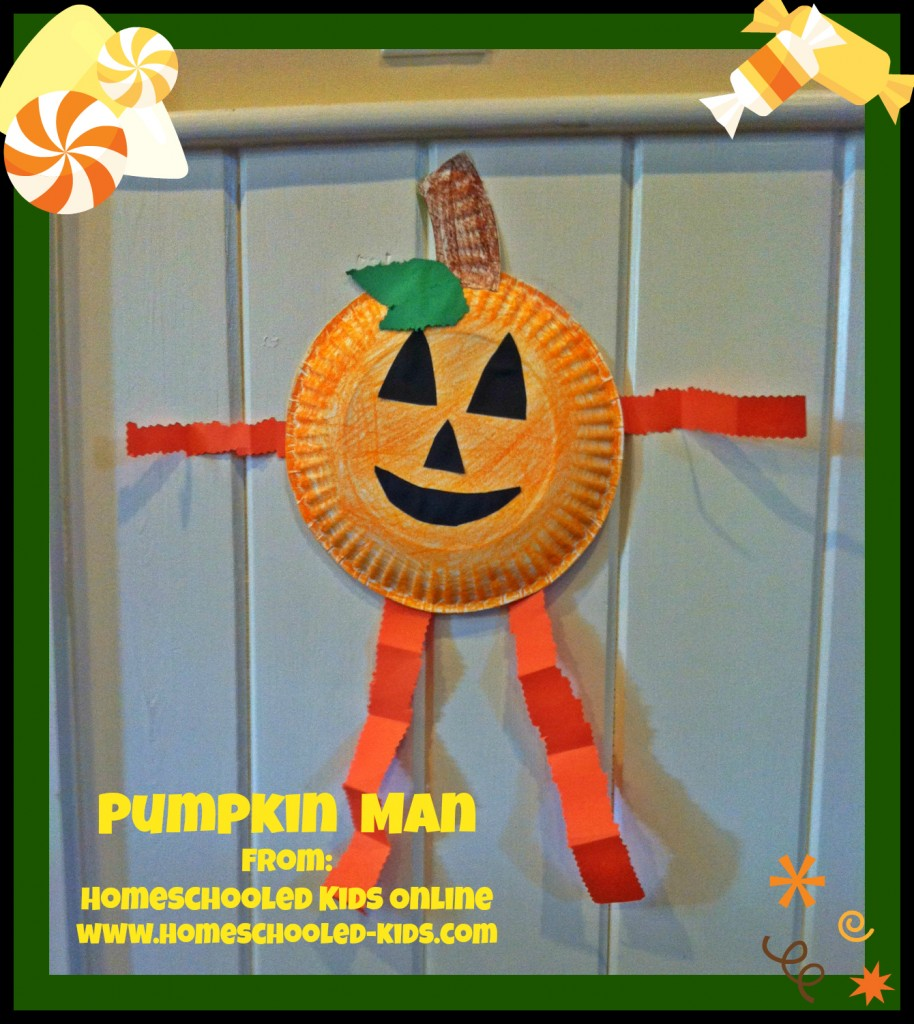 Pumpkin Man Craft For Kids