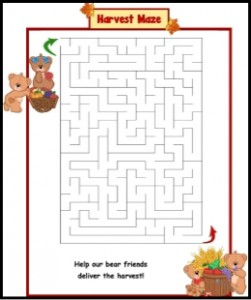 Harvest Maze for Kids