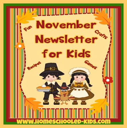 November Newsletter for Kids