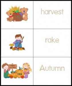 Fall Tracing for Kids