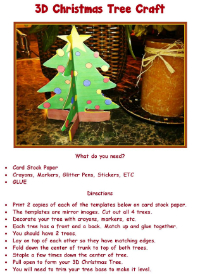 Advent 3D Christmas Tree Craft