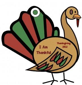 Thankful Turkey Christmas Ornament