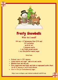 Advent Snow Ball Recipe