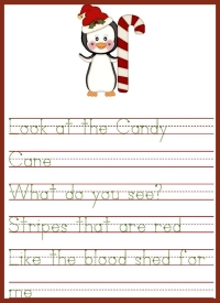 Candy Cane Printable Activity for kids