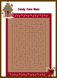 Candy Cane Maze for Kids