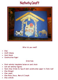 Advent Nativity Craft
