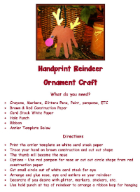 Advent Handprint Reindeer Craft