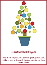Advent Door Hanger