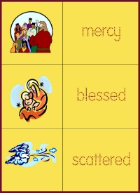 Advent vocabulary for kids
