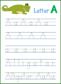 Letter A Handwriting