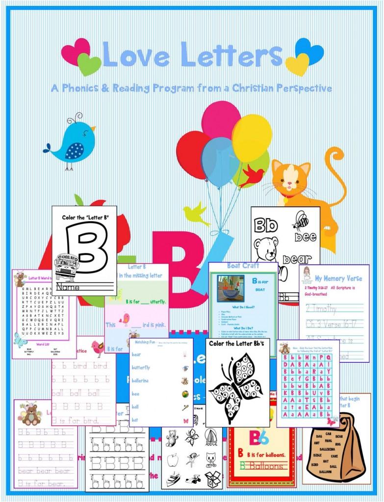 Letter B Love Letters