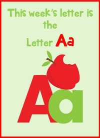 Letter A Large Printable