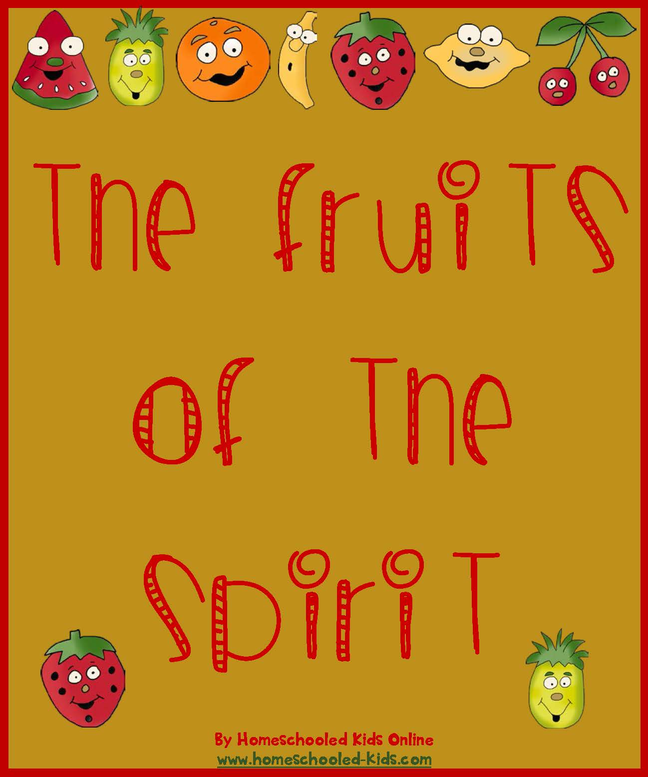 Fruits of the spirit homeschooled kids online for Fruit of the spirit goodness craft