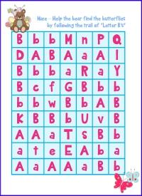 Letter B Maze