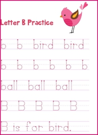 Letter B Printing Practice