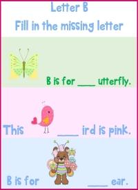 Letter B Missing Letter