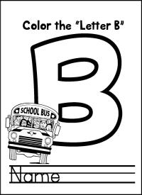 Letter B Color