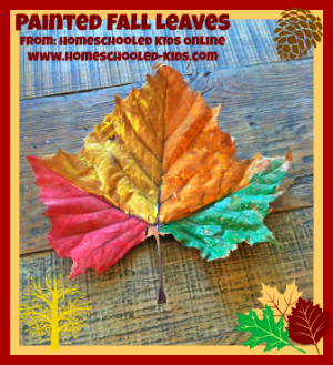 painted leaf craft