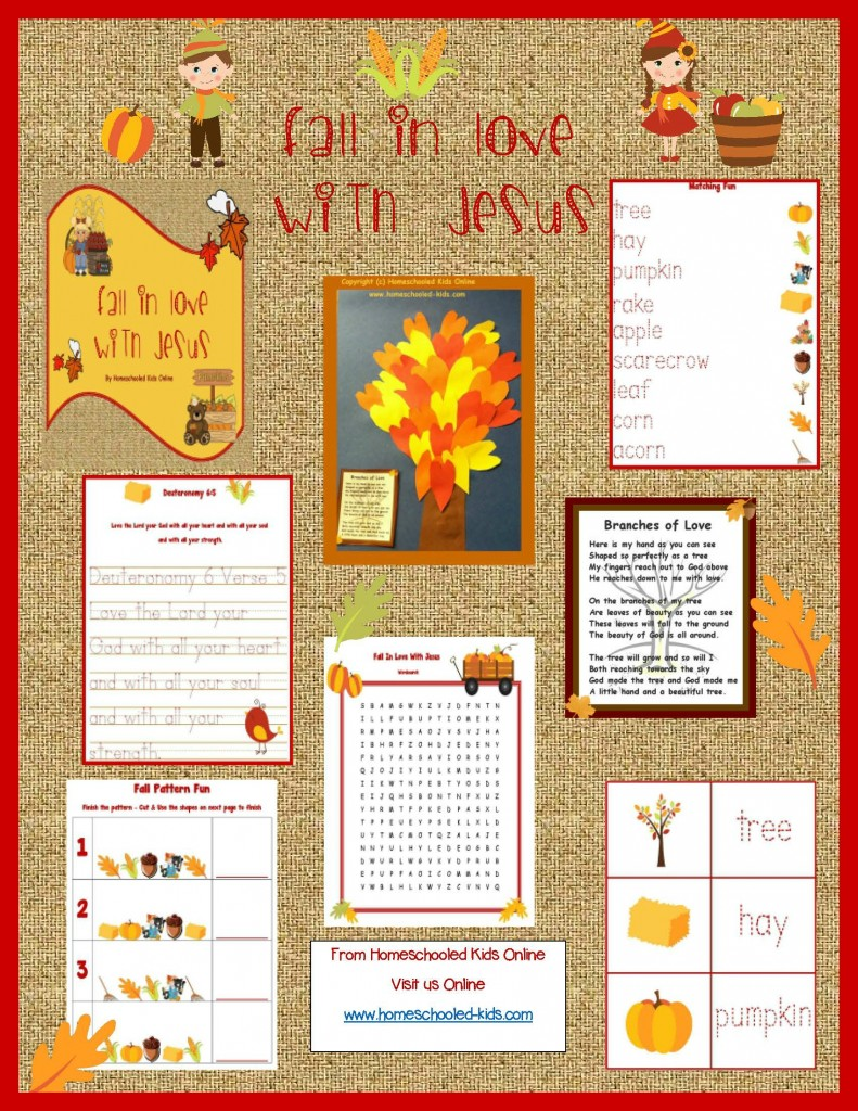 Fall In Love With Jesus Printable Packet