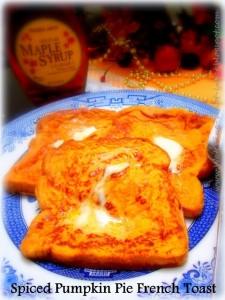 Spiced Pumpkin Pie French Toast