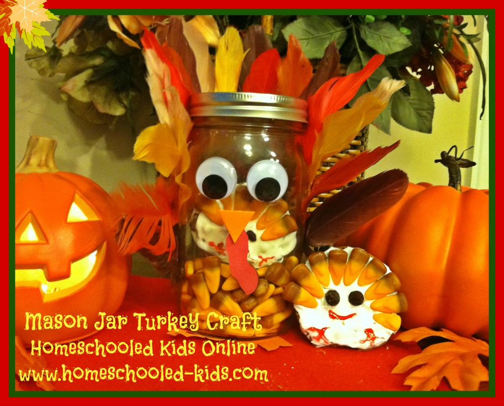 Mason Jar Turkey Craft for Kids
