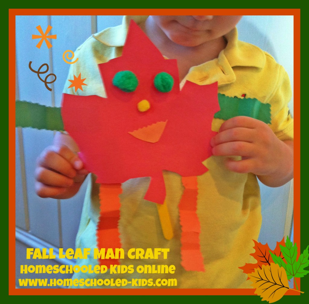 Fall Leaf Man Craft