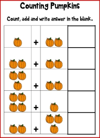 Pumpkin Math Addition