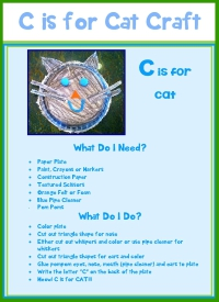 Letter C Worksheet