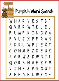 Pumpkin Word Search