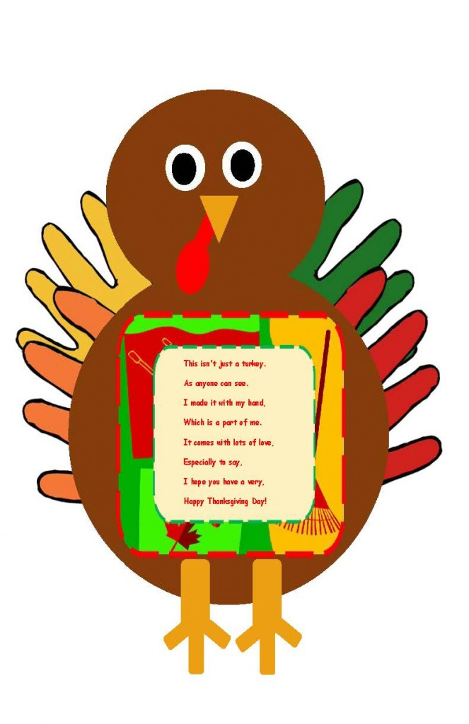 hand print turkey craft