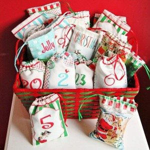 Drawstring Advent Bag Countdown