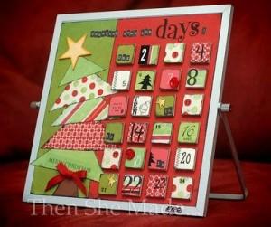Dry Erase Advent Calendar Countdown