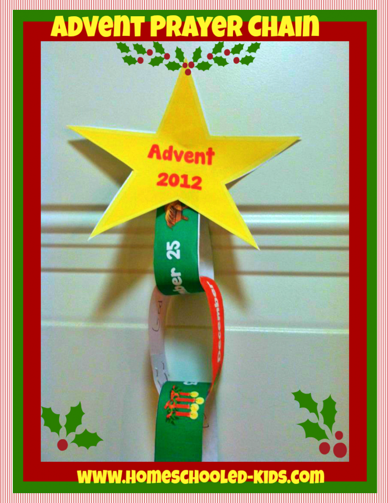 Advent Prayer Chain with template
