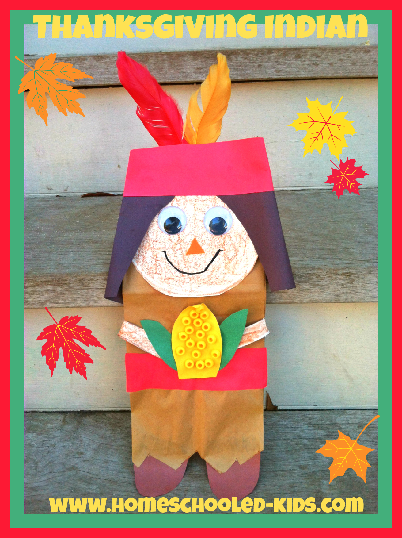 thanksgiving indian craft homeschooled kids online