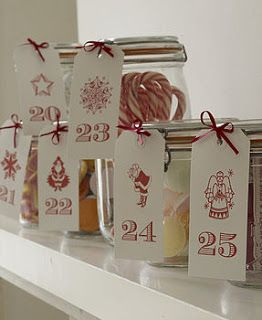Advent Mason Jar Countdown