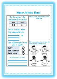 Winter Printable Activities