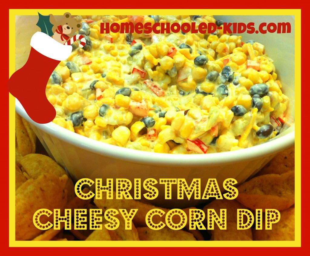Christmas Cheesy Corn Dip