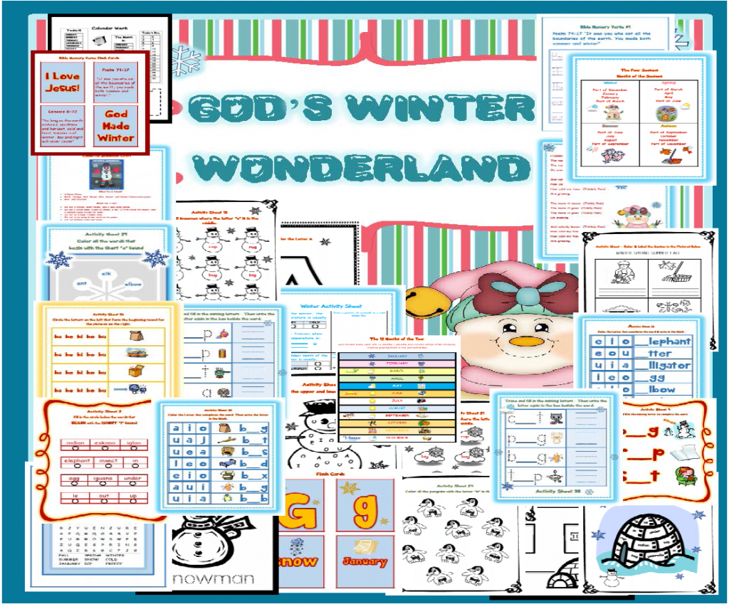 A Printable Packet for Winter