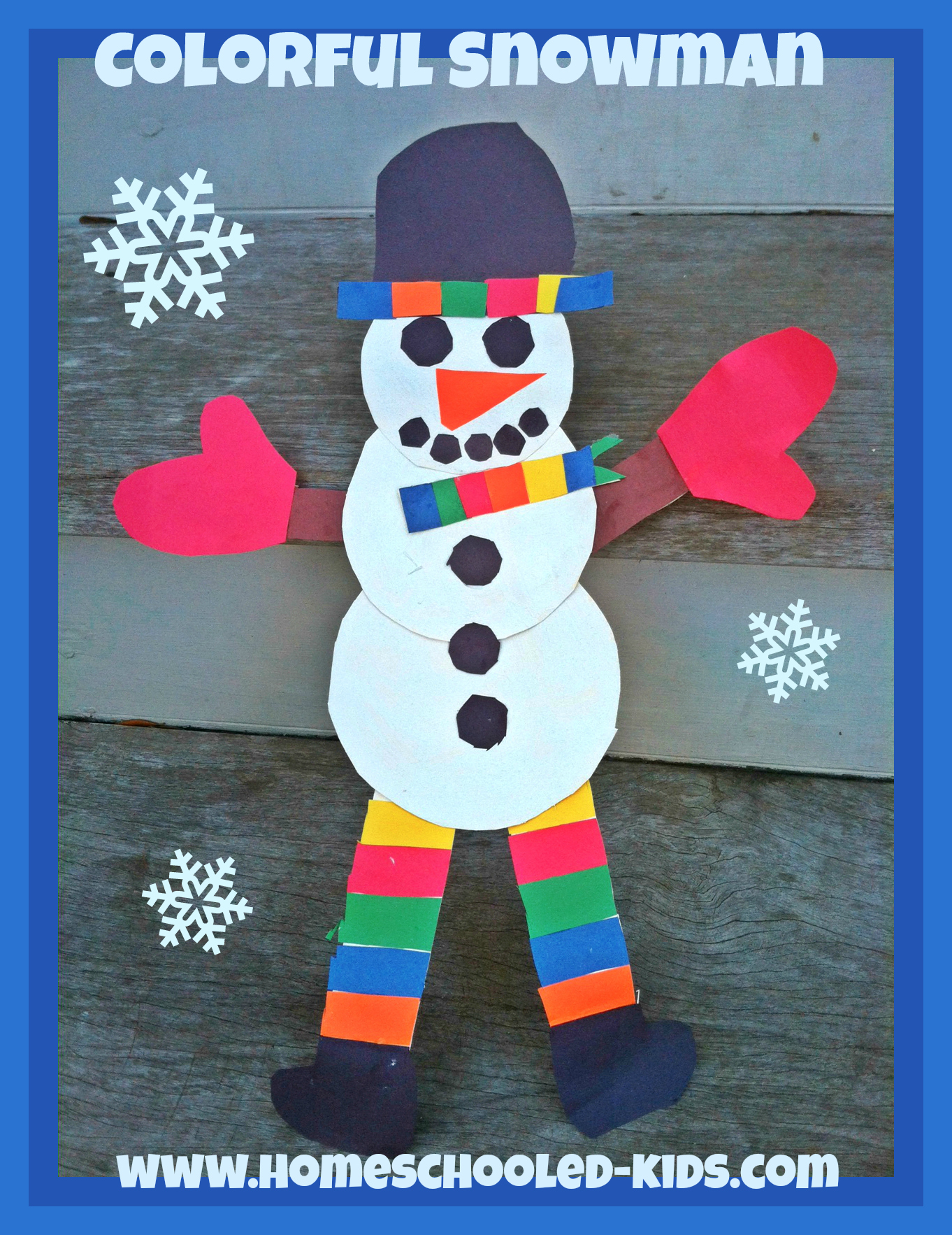 colorful snowman craft for kids homeschooled kids online