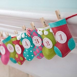 Stocking Garland Advent Countdown