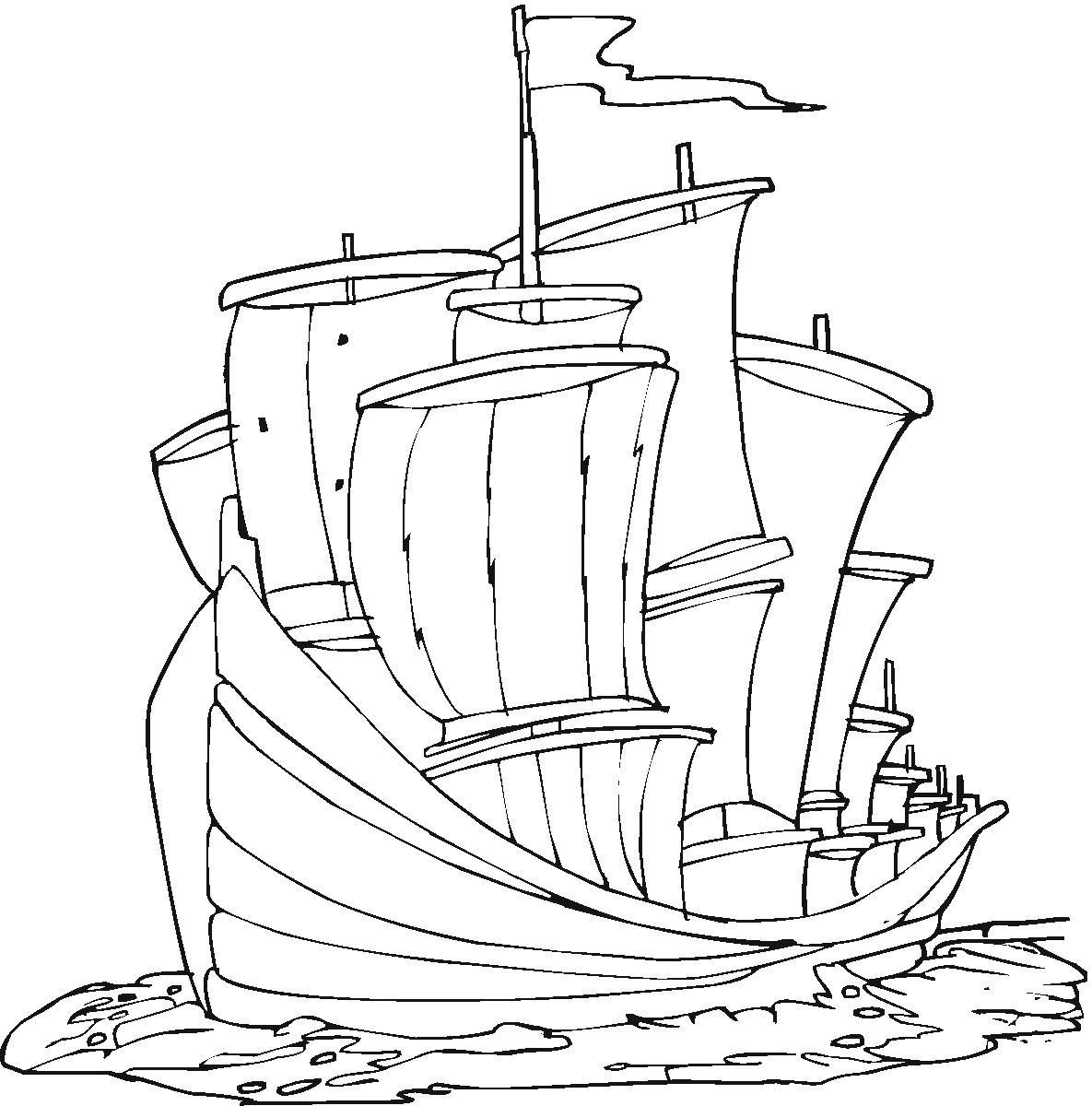 la nina ship coloring pages - photo #13