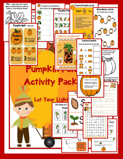 Pumpkin Patch - Printable Packet for Kids