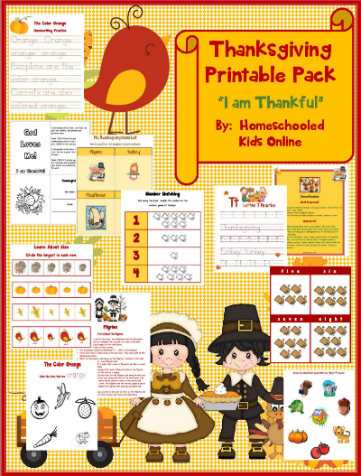 Christian Thanksgiving Printable Packet- Printable Packet for Kids